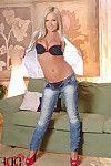 Blonde Beauty Stuffs Both Her Holes