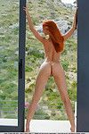 Alluring redhead Ariel Piper Fawn freeing nice MILF wobblers during glam widen