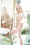 Huge tit blonde babe Lindsey undressing for some centerfold photo