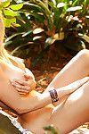 Loveable fairy-haired Katie Vernola showcasing her sweet turns outdoor
