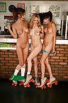 Hot butt babe Bethanie Badertscher posing naked with her wild friends