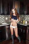 Coed Kylie Cupcake Morgan location in the kitchen and masturbates