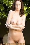 Brunette bombshell, Nikki Nova, gets raunchy outdoors and strips off her untamed dress showing off her beautiful tits and sweet pussy!