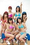 Hot and appealing japanese idols in sport festival