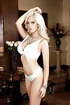 Teen centerfold model Katie Calloway exposes big natural tits