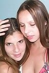 2 youthful brunette teens on vacation - true youthful models