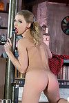 Gentile Insertion pleases Her - Babe Strips and Probes her Pink