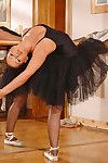 Sweet balerina fingering her pussy