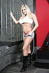 Boobsy babe Dannii Harwood is such a tease, she wearing a pair of tiny denim shorts with a very sexy red thong underneath, and she cant wait to get them off and show u in the dungeon!