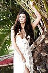 Brunette centerfold model Anita Serena shows off her big standard boobs