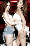 Big tits lasses Ali Rose and Elizabeth Marxs show their asses in high heels