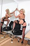 Sexy blonde Dannii Harwoods new boss started at the office today and asked Dannii to stay behind and put into late. After a scarcely any hours of accounting, Dannii complied to disrobe down to her lingerie and masturbate at her desk!