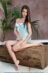 Sexually excited brunette honey with fascinating waste Caprice unveils her sodden slit