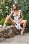 Seductive brunette sweetie Eva E simply loves showing off her pussy