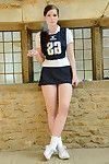 Teeny year old schoolgirl Jessica-Ann Fegan having smoke in cheerleader outfit