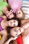 Perspired lesbian foursome