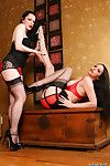Emily Marilyn Ruby Luster woman-on-woman girl girl stockings leg sex