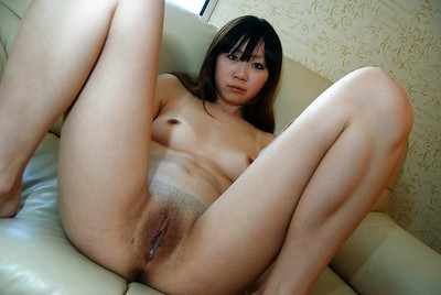 Japanese young Manami Igawa undressing and demonstrating her sodden gentile