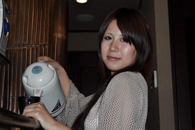 Sassy Japanese MILF Yoko Okada undressing and toying her  fur pie