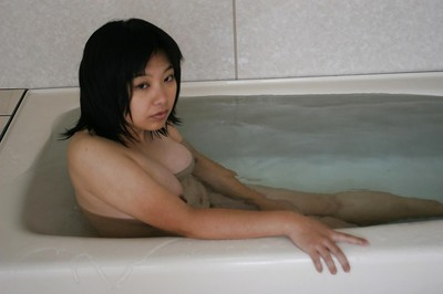 Fat Japanese MILF with  cooter Toshiko Shiraki delicious baths