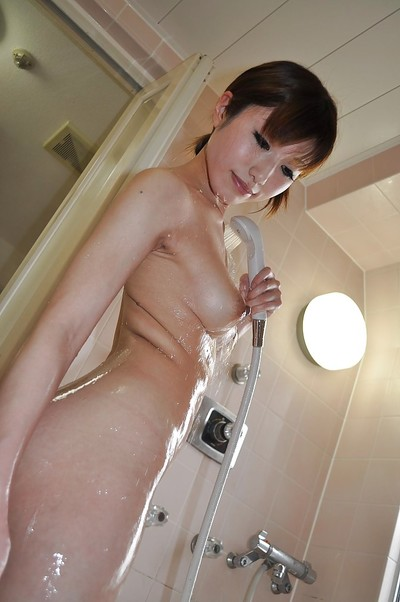 Svelte oriental MILF with wonderful whoppers Kaoru Fujitani tempting baths