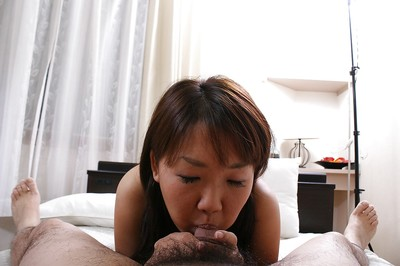 Ache eastern sweetheart Yuri Takao accepts her unshaved pussy penetrated and creampied