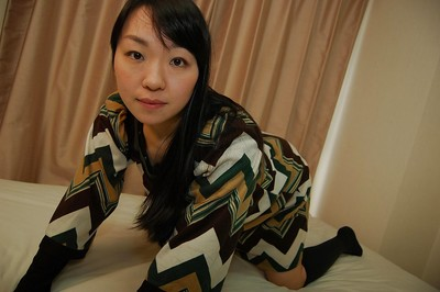 Shy Japanese MILF erotic dance down and exposing her curly bends in close up