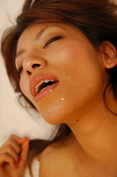 Japanese MILF Rikako Yokoyama obtains owned and takes a sperm stream on her geared up face
