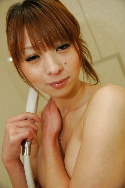 Fabulous Japanese MILF with slight body Rina Tachikawa jolly baths