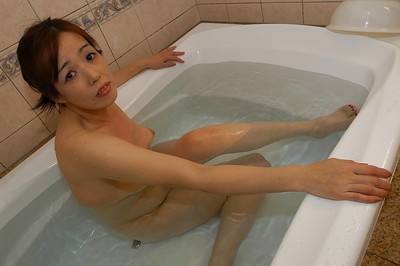 Bawdy eastern MILF with trimmed twat Eiko Sakai exquisite baths and chemical play