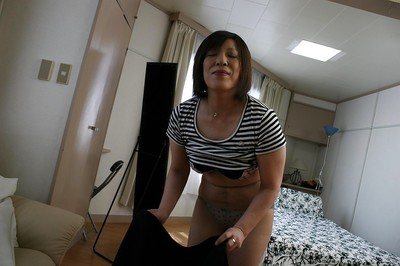 Eastern MILF in cylinder Kimiko Ogata erotic dance off her clothing and sexy pants dominant