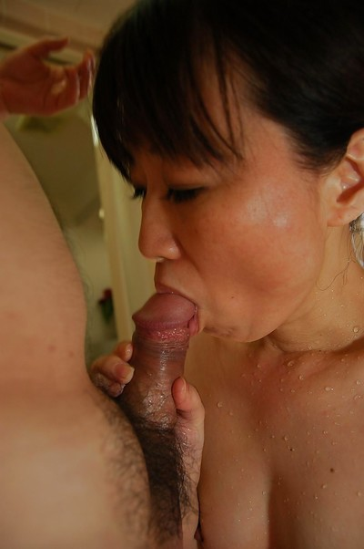 Eastern MILF enjoys vehement twat smoking ended with creampie