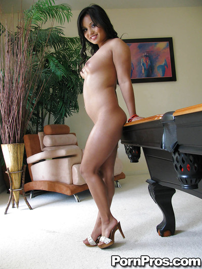 Oriental princess on high heels Lana Violet demonstrating her body outdoor