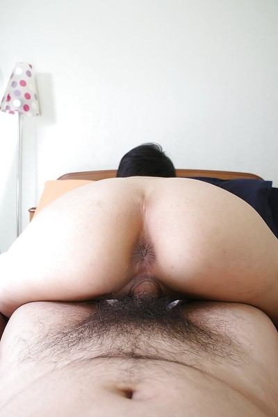 Saucy oriental MILF Ayano Nagasawa gives head and benefits from her furry twat fucked in group