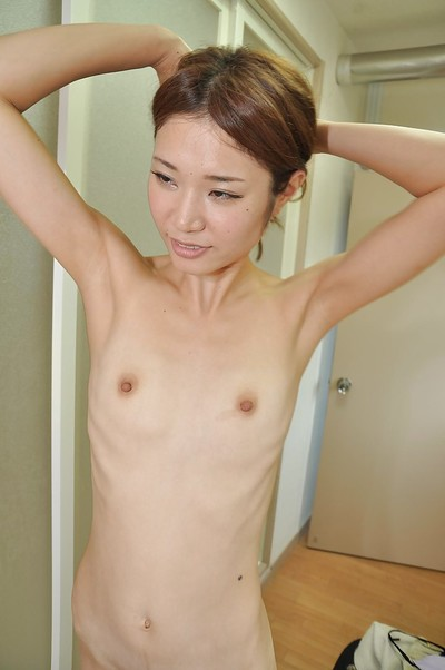 Spectacular Chinese angel Wakana Asada getting exposed and charming washroom
