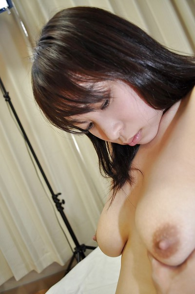 Shy oriental infant Kasumi Ayano has some cum-hole fingering getting joy later baths