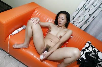 Japanese MILF Aya Sakuma undressing and toying her  gentile