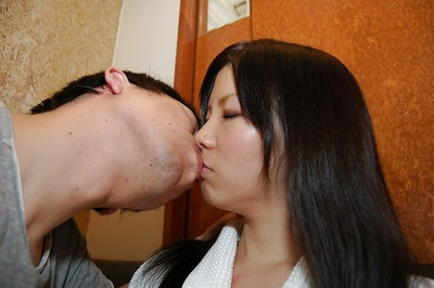 Fresh Chinese darling Ami Nagashima gives a carnal oral sex with hairy sack licking