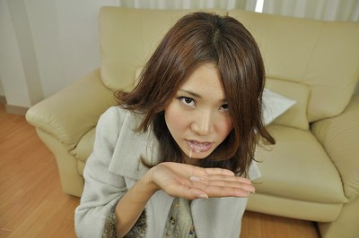 Japanese doll enjoys quicky and takes a ejaculation in her alluring gullet