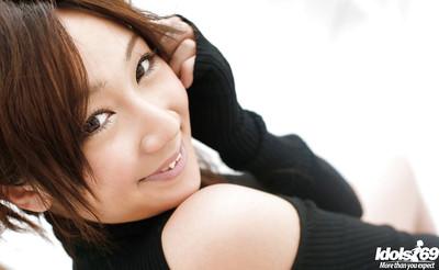 Nice-looking eastern hottie on high heels Ryo Akanishi winsome off her panties