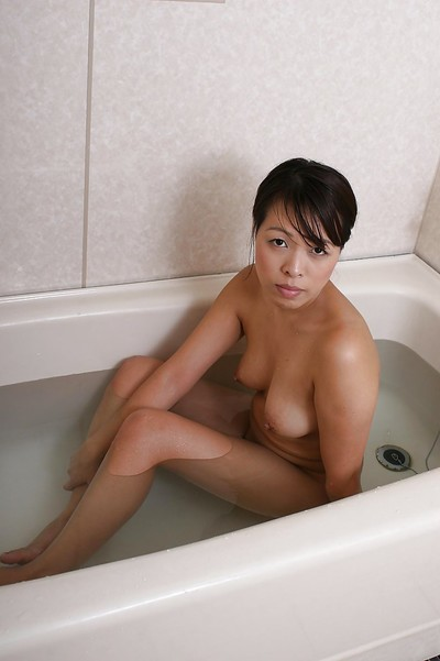 Seductive Chinese MILF Tomomi Kitano delicious bathroom and washroom