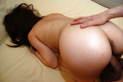 Lusty Japanese adolescent gives head and accepts drilled for bawdy cleft creampie