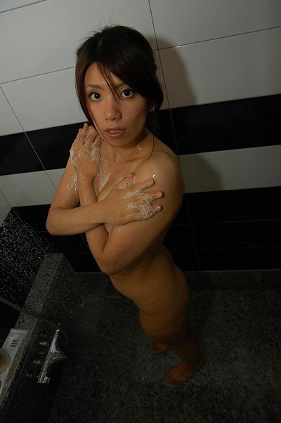 Svelte eastern princess with massive boob points Rikako Yokoyama delightsome bathroom and shower
