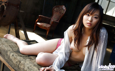 Tremendous eastern cutie Hikaru Koto showcasing her purely covered body