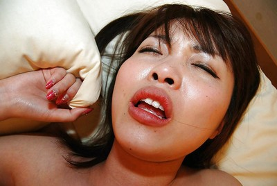 Chinese young Kei Ikegiri acquires her bushy vagina shagged and creampied