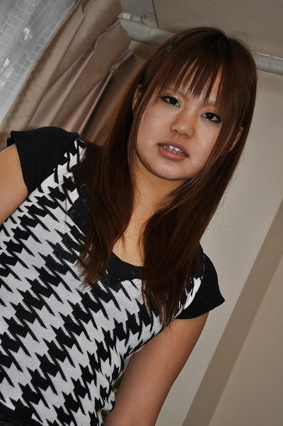 Raunchy Japanese amateur Minami Aida undressing and playing with a sextoy