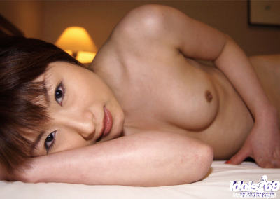 Saucy Japanese lady exquisite off her underclothing and playing with her vibrators