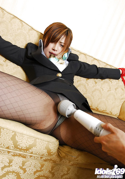 Bond Japanese doll in tube obtains attached and exploited by a saucy gentleman