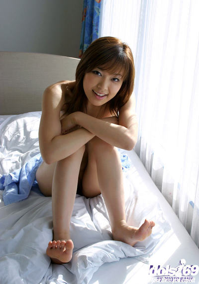 Fascinating Japanese gal Yua Aida exposing her aberrant twists and getting drenched