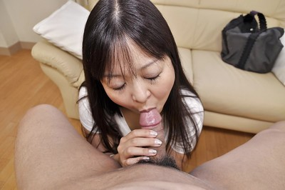 Eastern MILF Hideko Okura gives head and attains her wavy snatch owned hard